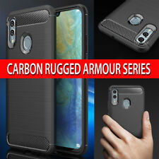 Case for Huawei P Smart 2019 Carbon Fibre RUGGED Shockproof Slim Armour Cover