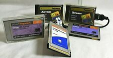 Lot of 5 PCMCIA Ethernet LAN PC Cards w/ 2 Dongle Cables  Assorted Speed -Tested
