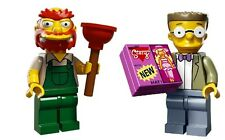 LEGO SIMPSONS 71009 Series 2 GROUNDSKEEPER WILLIE & SMITHERS Minifigure Set of 2