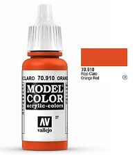 "Vallejo ""Model Color"" Orange Red Acrylic Hobby Paint: 17ml Bottle - 70.910"