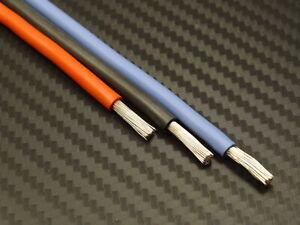 1m Silikonkabel / 0,25mm² - 6mm² / ÖLFLEX HEAT 180 SIF / rot, schwarz oder blau