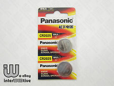 2 Pieces New in Package Panasonic CR2025 2025 ECR2025 Coin Cell Battery 3V