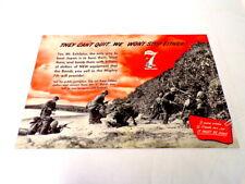 ORIGINAL Vintage 1945 Film Industry WWII 7th War Loan 12x18 Ad Poster