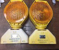 Solar Interplex Traffic Construction Barricade Warning Light,