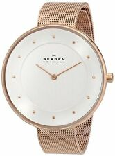 Skagen Women's Ditte Quartz Rose Gold Tone Stainless Steel Mesh Watch SKW2142