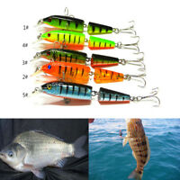 Jointed Lure Fishing Lures Crank Bait Crankbaits Tackle Hooks 10.5cm/9.6g*ES