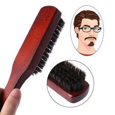 Hair Brush Wood Handle Boar Bristle Beard Comb Styling Detangling Straightening