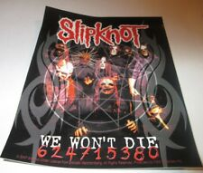 Slipknot Sticker New 2007 Vintage Oop Rare Collectible Stone Sour