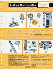 "1961 Vintage ""TAYLOR"" Sales Sheet: Cooking and ""Temprite"" Thermometers"