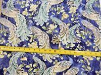 Peacock Peacocks PLUME CM6590 Nice Timeless Treasures Cotton Fabric NICE