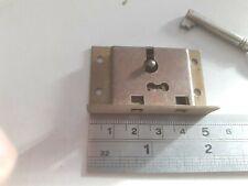 Brass-Steel Box-Chest Lock 50mm x 30mm 1 Key (1711) No Keep