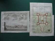 1749 - BELLIN - GOLD COAST  GHANA  Plan & small view English FORT DIXCOVE