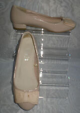 WOMENS FIORE Beige Synthetic Block Low Heel Court Shoes Size:4/37(WHS118)