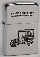 Zippo lighter Transportation Car high polish chrome. Transporte Coche cromado