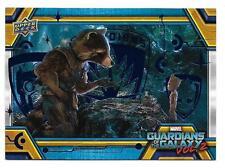 2017 Marvel Gardiennes De The Galaxy Volume 2 Bleu Papier Alu Lot 15 # Prof 199