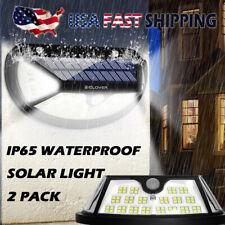2Pack Solar Lights Waterproof Outdoor Wall Lamp PIR Motion Sensor Garden Yard