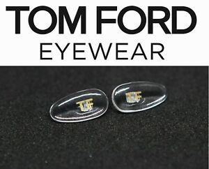 Replacement Snap In / Press In Nose Pads for Tom Ford Eyeglasses Logo in Gold