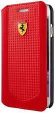 "Genuine Ferrari Victory Carbon Book Case Cover for iPhone 6 & 6s 4.7""  Red"