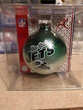 New York Jets Helmet Green Glass Christmas Ball - Team NFL
