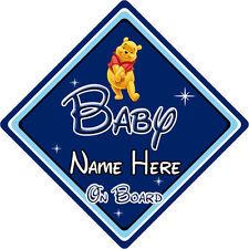 Personnalisé disney bébé à bord voiture signe – winnie l'ourson db
