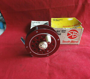 """A VERY GOOD BOXED 3 3/8"""" SOUTH BEND FINALIST/1122 TROUT FLY REEL"""