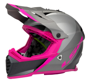 LS2 Youth Gate Launch Helmet - Gray/Silver/Pink