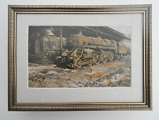 David Shepherd Steam Train print 'Nine Elms - The Last Hours'  FRAMED