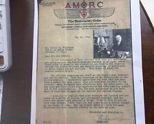 HSpenserLewis. 1934 Letter