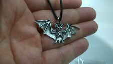 PENDANT ASTRAL PEWTER BAT SILVER COLOURED STAR NECKLACE HAND CRAFTED UK NEW