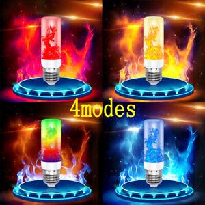 E27 LED Licht Fackel Feuer Lampe Flammen Effekt Glühbirne Flacker Birnen DE Neu
