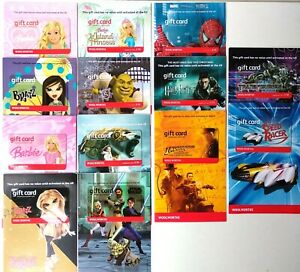 WOOLWORTHS Character & Licenced Gift Cards  22 Assorted with Envelopes
