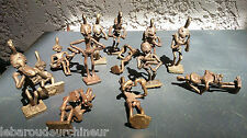 lot Ancienne statues miniature en bronze. Old miniature bronze statues