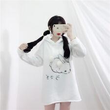 Lovely Hooded Bunny Ears Rabbit Print Hoodie Ulzzang Harajuku White Sweet Coat