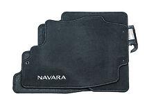 Nissan Genuine Navara Car Floor Mats Tailored Textile Carpet Black KE755EB412