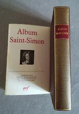 Pléiade - ALBUM SAINT-SIMON N° 8 - E/O. de 1969 épuisée