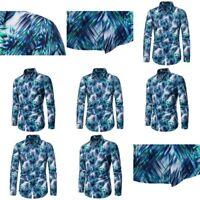 Formal Top T Shirt Luxury Floral New Casual Dress Shirts Long Sleeve Shirt Mens