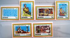 GHANA 1973 492-99 B 472-77 IMPERF Operation Feed Yourself 1st Ann Revolution MNH