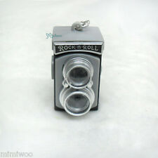 Super Dollfie 1/3 1/4 Bjd Doll Miniature GREY Mini Twin Camera w Sound & Light