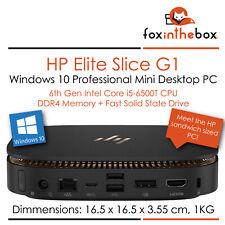 Hp Elite fatia Mini Desktop Pc-i5-6500T 16GB 512GB SSD Win 10 Pro
