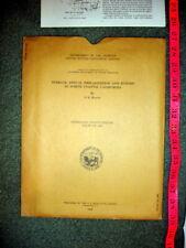 Original Vtg USGS Map / Report -Average Annual Precip & Runoff N California 1968