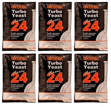 Alcotec Classic 24 Hour Turbo Distillers Yeast (Pack of 6)