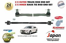 FOR TOYOTA ALTEZZA 2.0 IMP 1998-2005 2x OUTER & 2x INNER TRACK RACK TIE ROD ENDS