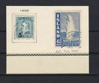 ICELAND ISLAND 1939 STAMPS  ON PART PAGE    REF 5721
