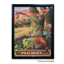 POACHERS ARMS PUB SIGN POSTER PRINT | Home Bar | Man Cave | Pub Memorabilia