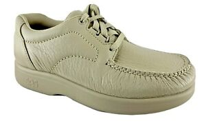 SAS Men's Bout Time Bone Leather Lace-Up Loafers