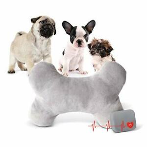 K&H PET PRODUCTS Mother's Heartbeat Plush Dog Bone Pillow Gray Small Breed He...