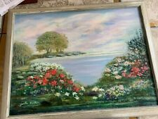 Fabulous Landscape Oil On Canvas Painting By Gerte Hacker