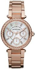 NEW MICHAEL KORS MK5616 LADIES ROSE MINI PARKER WATCH  2 YEAR WARRANTY