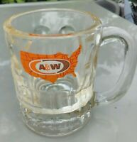 A&W ROOT BEER Vintage GLASS MUG United States Logo