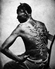 1863 MR Baton Rouge Louisiana Slave Whipped by Overseer 8x10 Photo